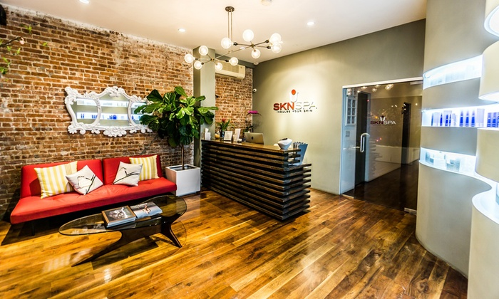 SKN Spa - SKN SPA: 60-Minute Deep-Tissue Massage, a 75-Minute Organic Facial, or Both at SKN Spa (Up to 54% Off)