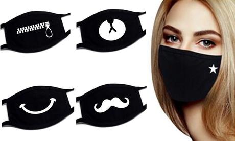 Pack de 5 o 10 máscaras faciales con dibujo de emociones