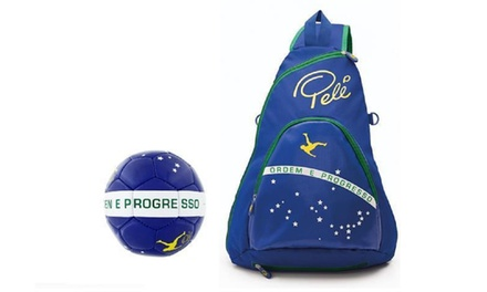 Pele Sports Backpack and Football