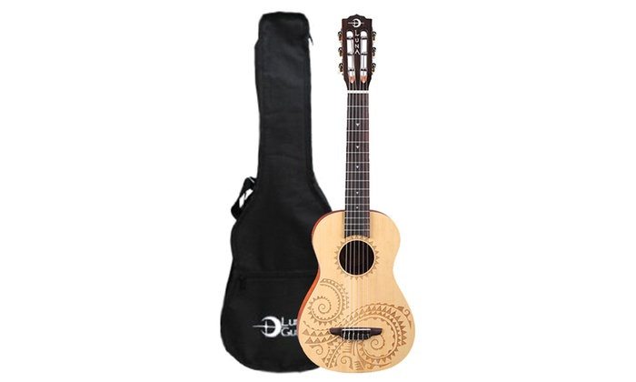 Luna Guitars Tattoo 6-String Ukulele with Padded Gig Bag
