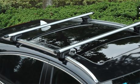 Barras portaequipaje con antirobo para el coche