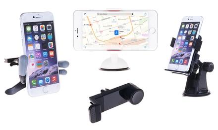 Soportes ajustables de smartphone y tablet para coche