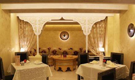 Menú marroquí a elegir entre básico o premium para 2 personas desde 34,90 € en Restaurante Faruk