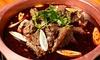 新宿/羊蝎子火鍋+季節の野菜食べ放題+〆+デザート