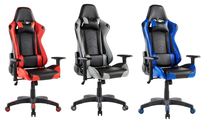 Aston Gaming/Racing Swivel Chair with Cushions