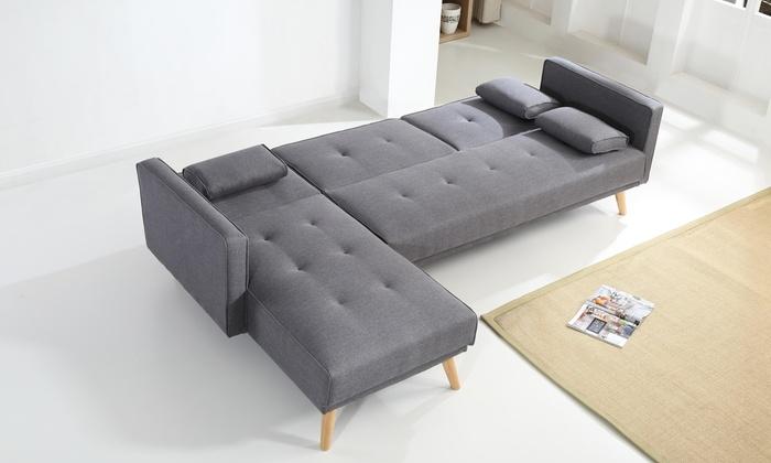 canap lit bobochic helly groupon. Black Bedroom Furniture Sets. Home Design Ideas