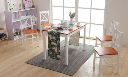 Dining Table and Four Chairs Set With Free Delivery