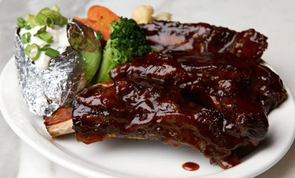 image for Classic Steakhouse Food and Drinks for Lunch or Dinner at Cafe La Maze (42% Off)