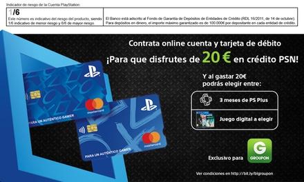 Tarjeta PlayStation: obtén 20 € de crédito PSN de regalo y 3 meses de PlayStation Plus o un juego a elegir