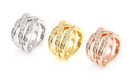 1 o 3 anillos trenzados adornados con cristales de Swarovski®