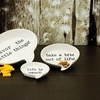 Three-Piece Food for Thought Tidbit Earthenware Serving Dishes