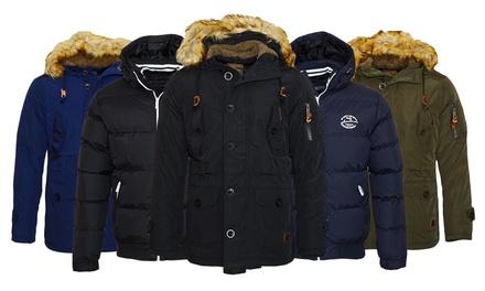 Poolman Winterjacke oder Parka mit Kapuze für Herren in Schwarz, Navy oder Khaki und in der Größe nach Wahl (Munchen)