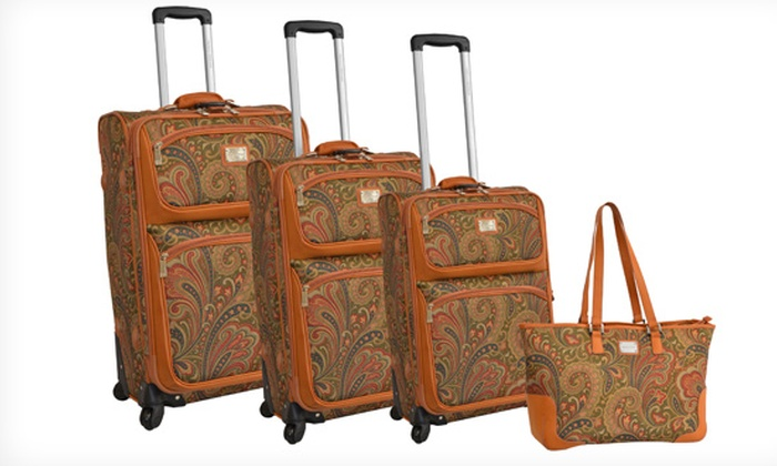 Adrienne Vittadini 4-Piece Luggage Set: $249.99 for an Adrienne Vittadini 4-Piece Luggage Set ($1,320 List Price). 2 Colors. Free Shipping and Returns.