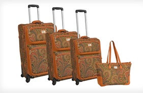 $249.99 For An Adrienne Vittadini 4-piece Luggage Set ($1,320 List Price). 2 Colors. Free Shipping And Returns.