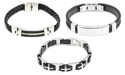1 o 3 braccialetti da uomo disponibili in 3 modelli