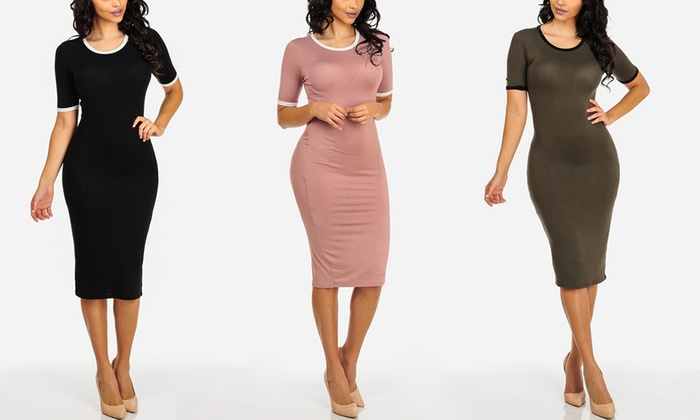Women's Midi T-Shirt Dresses