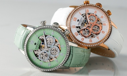 Empress Beatrice Women's Leather Band Watch in Choice of Colour With Free Delivery