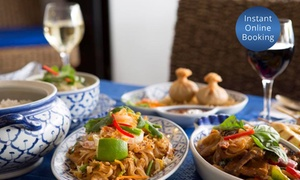 Thai by the Sea: Three-Course Thai Dinner with Sides and Wine for Two ($35) to Six ($105) at Thai by the Sea (Up to $270 Value)