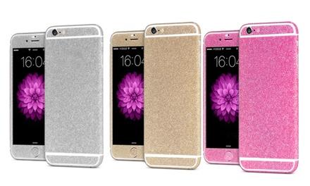 Glitterstickers voor iPhone, in model en kleur naar keuze