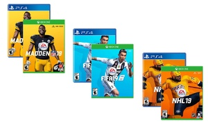 Madden NFL 19, FIFA 19, or NHL 19 for Xbox One or PlayStation 4