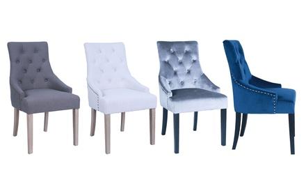 elegante st hle mit nieten groupon goods. Black Bedroom Furniture Sets. Home Design Ideas