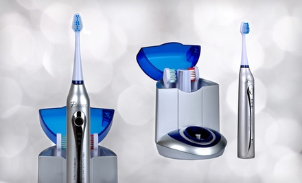 Pursonic Deluxe Sonic Toothbrush with 12 Brush Heads and UV Sanitizing Function