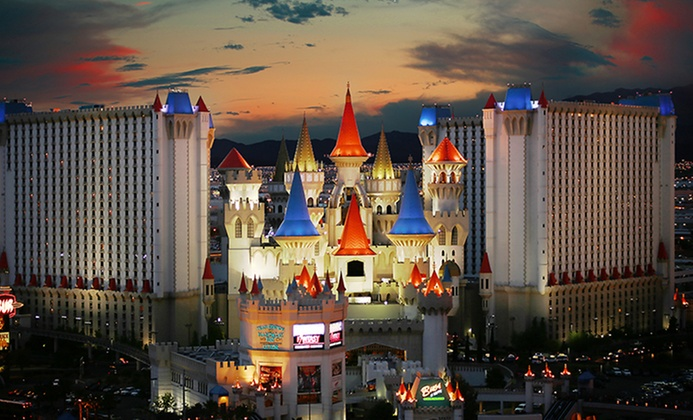 Iconic Excalibur Casino Hotel in Vegas