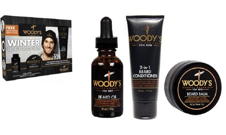 woody 39 s quality grooming for men beard essentials kit 4 piece groupon. Black Bedroom Furniture Sets. Home Design Ideas
