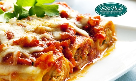 Frozen Pasta Meals to Pick Up: Four ($22), Eight ($44) or 12 ($66) at Tutto Pasta (Up to $132 Value)