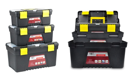 ThreePiece Tool Box Set with Removable Tray: One $29 or Two $49