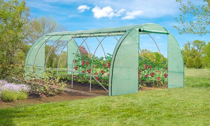 Serre de jardin taille au choix groupon shopping - Serre de jardin 6m2 ...