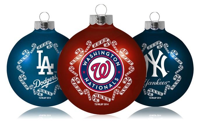 MLB Traditional Glass Ornament