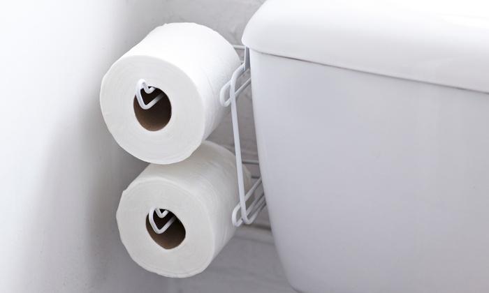 Over Cistern Tank Toilet Roll Holder   Groupon Goods