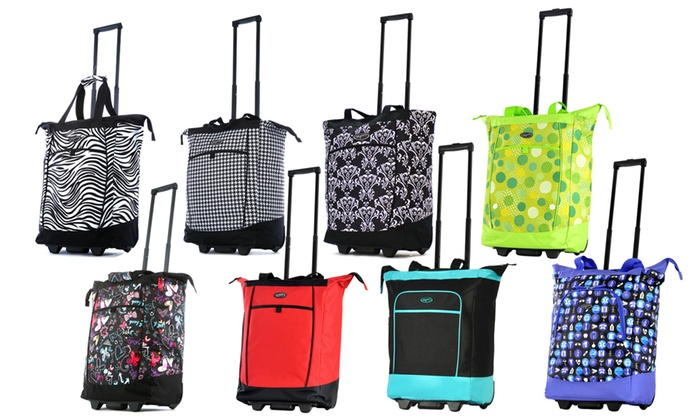 51368a347847 Up To 51% Off on Olympia USA Rolling Shopper Tote | Groupon Goods