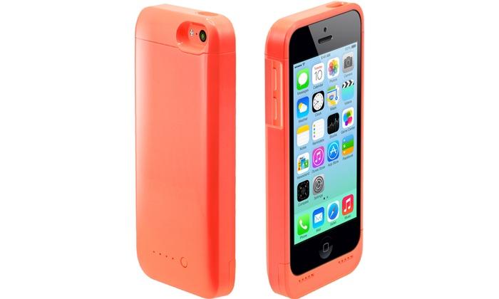 Funda protectora con bater a para iphone 5 5c 5s 5se groupon goods - Funda bateria iphone 5c ...
