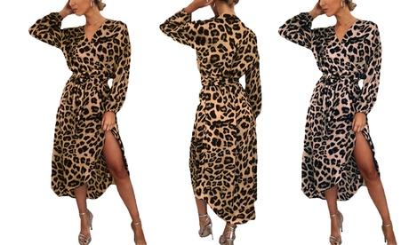 Maxi vestido de leopardo