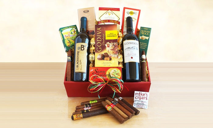 Wine and Cigar Gift Baskets. Shipping Included.