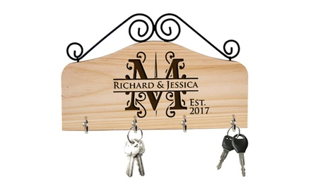 Personalised Key Ring Set Holder: One $10.95, Two $19.95 or Three $27.95 Don't Pay up to $112.71