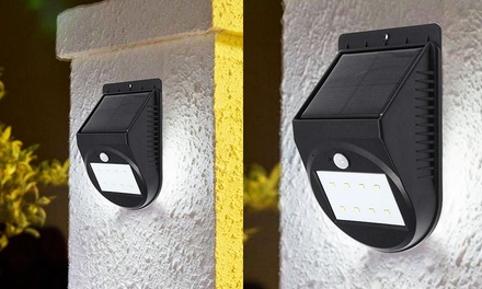 Solar-Powered LED Motion Detector Security Light - One ($19), Two ($34), or Four ($59)