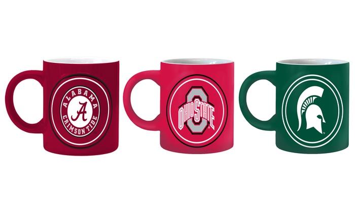 NCAA Sculpted Ceramic Coffee Mugs (2-Pack)
