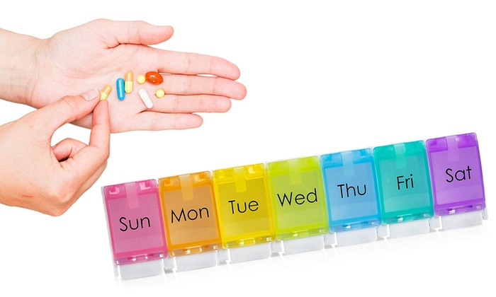 3e8247d15052 Up To 43% Off on MEDca Weekly Pill Organizer | Groupon Goods