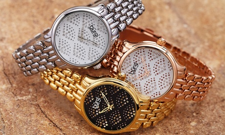 Reloj Burgi para mujer decorado con cristales de Swarovski®