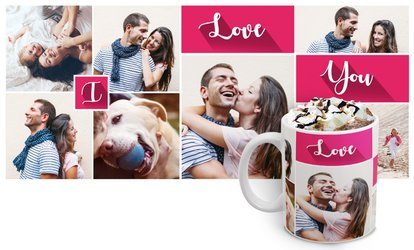 Personalised Photo Collage Mug from Printerpix (50% Off)