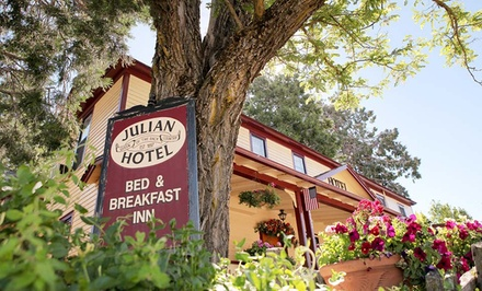groupon daily deal - 1-Night Stay for Two at The Julian Gold Rush Hotel in Julian, CA