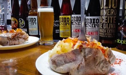 Degustación de 6, 10 o 20 cervezas con tapeo para 2 o 4 personas desde 12,90 € en Ordio Minero