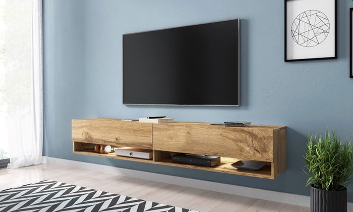 bis zu 58 rabatt h ngendes tv lowboard wander groupon. Black Bedroom Furniture Sets. Home Design Ideas