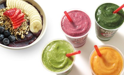 image for $6 for $10 Worth of Smoothies, Fresh Juice, and Bowls at Robeks
