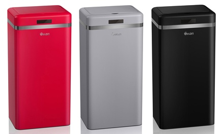 Swan 45L RetroStyle Sensor Bin in Choice of Colour for £45.98 With Free Delivery