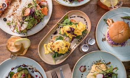 All-Day Breakfast + Tea or Coffee: One ($13), Two ($22) or Four People ($49), Pick-Up Only from The Shed Cafe Miranda