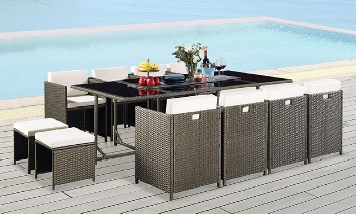 13-Piece PE Rattan Garden Set with Cover from £449.99